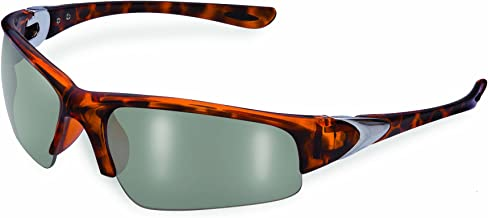 SSP Eyewear 2.50 Bifocal/Reader Safety Glasses with Demi Frames and Mirrored Lenses, ENTIAT 2.5 DMI M