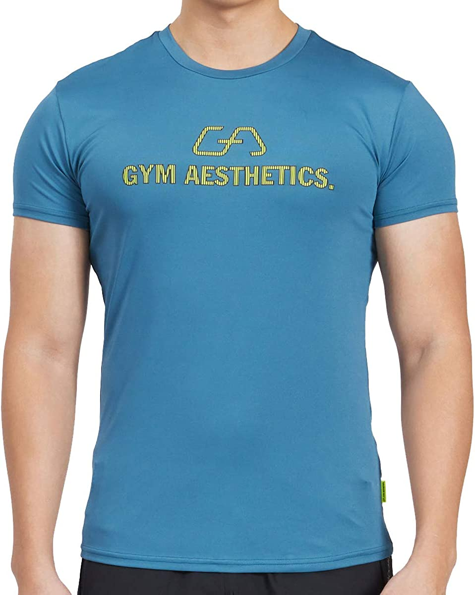 Men's Athletic Shirts Performance Workout Short A Tee Top safety Sleeve Sale item