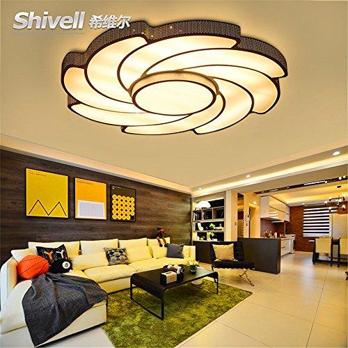 DengWu Plafondlampen, moderne, eenvoudige creatieve led-plafondlamp, sfeer, woonkamer, verlichting, afstandsbediening, traploos dimmen, het hele jaar door warme slaapkamerlampen, 50 cm