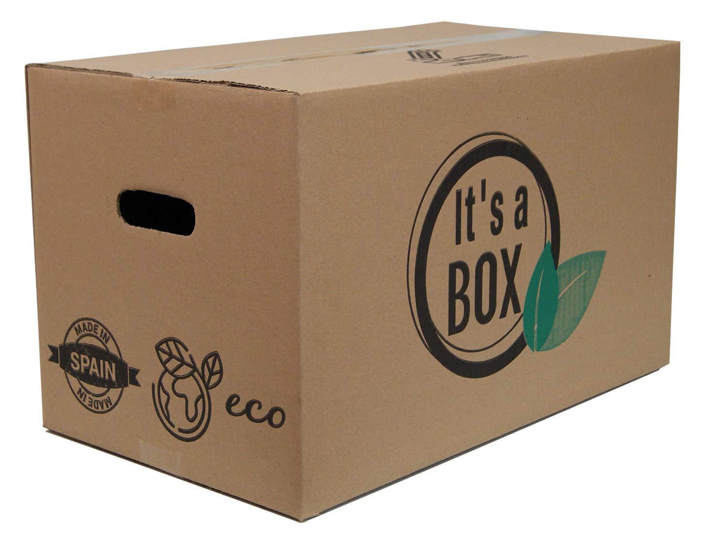 Chely Intermarket Pack 10 Cajas Cartón para Mudanza 40x30x30 cm, packaging y Almacenaje resistentes - Fabricadas en España - Canal Simple Reforzado Calidad Superior - ECO-FRIENDLY: Amazon.es: Oficina y papelería