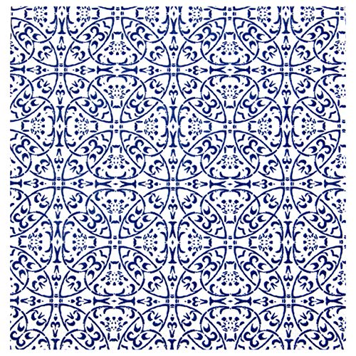 finemark 20 Stück Papierservietten Gemustert in Weiss/BLAU 33 x 33 cm Tissue Ornament Servietten 3- lagig Tischdekoration Geburtstag Party Lunch