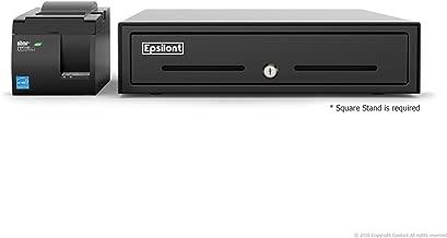 Square POS Hardware Bundle - Star Micronics TSP143IIU USB Receipt Printer and Epsilont Cash Drawer (Black)
