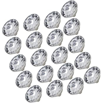 10pcs 3 Size Diamond Bright Crystal Upholstery Glass /&Metal Sew Buttons