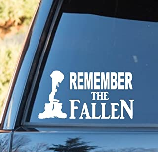 Remember The Fallen Soldier Decal Sticker Vinyl Sticker Decal for Car Truck SUV Window Vinyl Sticker