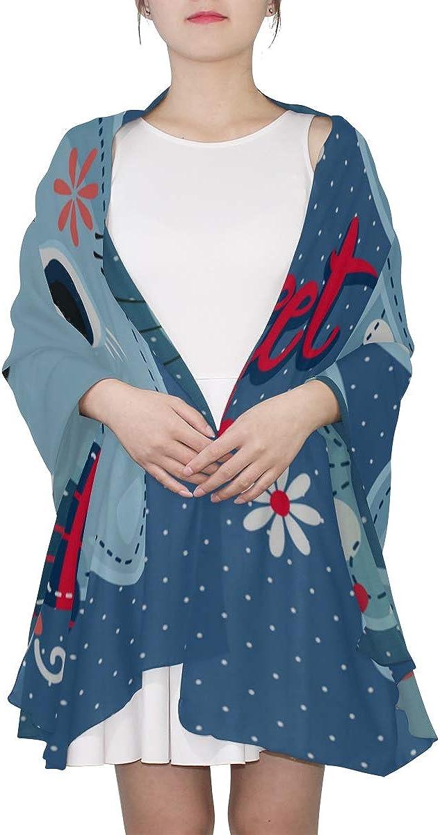 Scarf Women Summer Cartoon Bow Cat Animal Fashion Designer Head Scarf Scarf For Girls Lightweight Print Scarves Large Wrap Shawl Fashion Scarfs For Women Lightweight