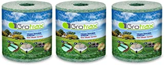 Grotrax | Patch N Repair | Year-Round Green Grass Seed Mixture Mat Roll | Great for Lawn Spots, High Traffic Areas and Lawn Repairs | Winter Resistance and Drought Tolerant | 20 SQFT (Pack of 3)