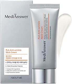 ABOUT ME MediAnswer PLA Anti-Wrinkle Neck Cream 2.03 fl.oz. (60ml) - Collagen & Peptides for Firming & Combating Wrinkles on Neck, Decolletage, Tighter Neckline with Thread Lifting Ingredients PLA