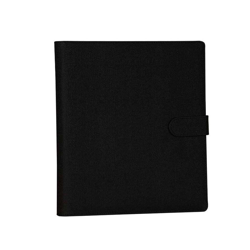 Waitousanqi Album 6-inch Album Insert Type Plastic Photo Family Album Simple Retro Wind Large Capacity Wide Practicality (Color : Black)
