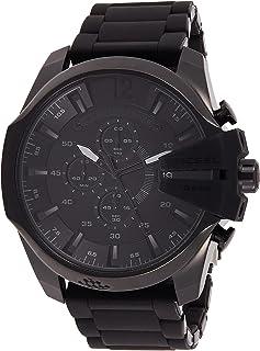 ساعة انالوج ستانلس ستيل للرجال من ديزل بمينا سوداء اللون - DZ4486