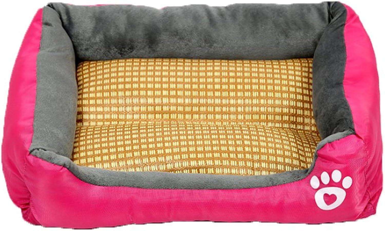 Famyfirst Pet Summer Sleeping Mat Bed Pet Nest for Small Medium Large Dogs Pet Dog Nest Bed for Summer Cool Pet Sofa Bedmat pink XL
