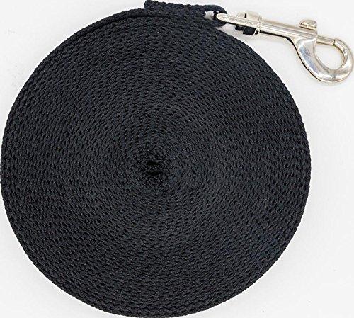 Justzon Cotton Web Dog Training Lead Black (30-Feet)