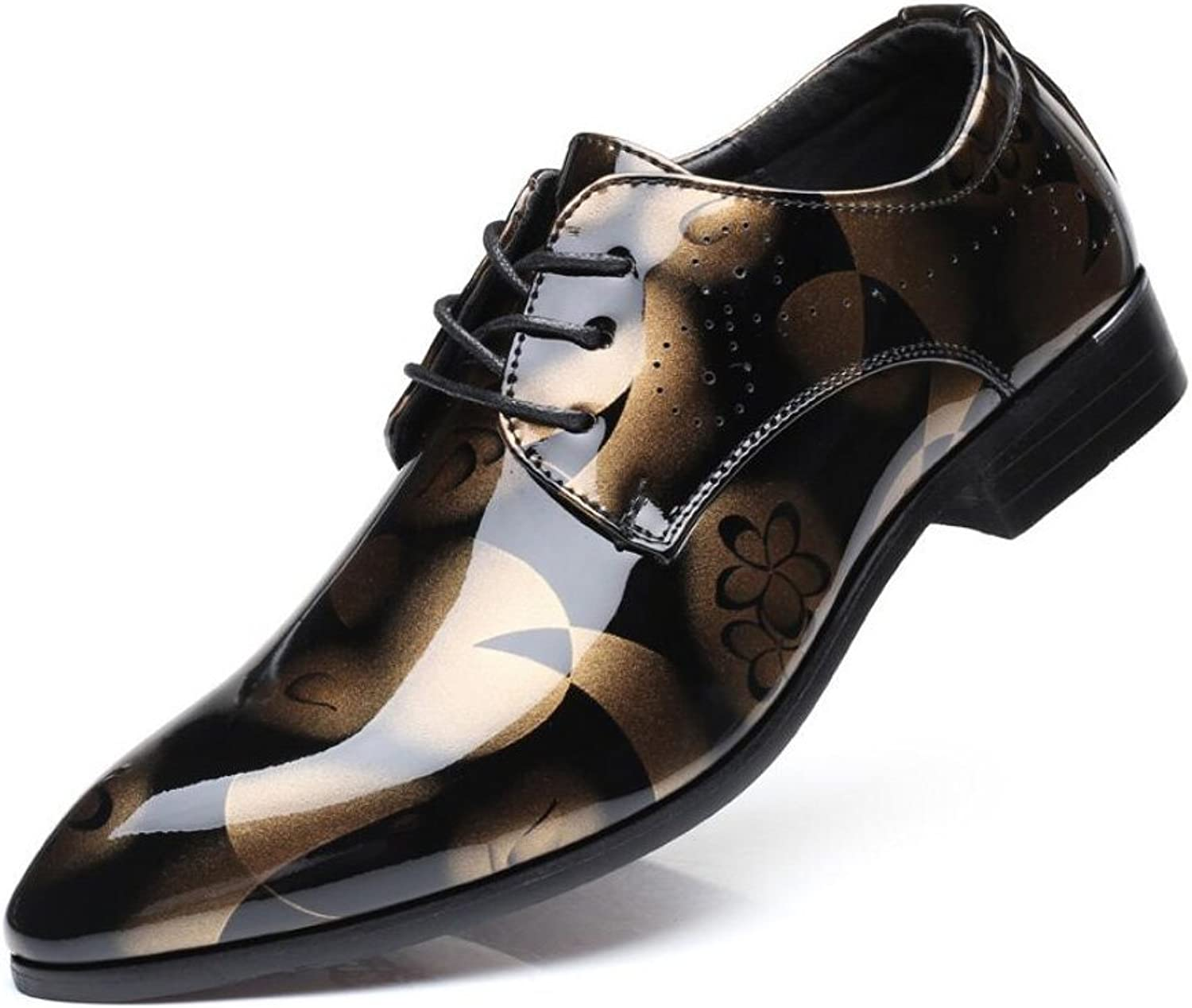 Men's shoes, Leather Business shoes,Pointed Toe Dress shoes,Spring Fall Comfort Formal shoes Party & Evening Printed,C,41