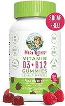 Vegan Vitamin D3+B12 Gummy (Sugar Free) Plant-Based by MaryRuth's | Made w/Organic Ingredients Non-GMO Gluten Free for Men Women & Kids 1000 IU D3 | 250 mcg B12-methylated 60 Count (Raspberry)