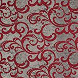 englisch dekor Dekostoff Vorhangstoff Ornamente rot