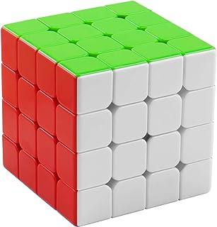XMD マジックキューブ 磁石 魔方 立体パズル【磁石内蔵】 ポップ防止 ステッカーレス 脳トレ Magnetic Magic Cube (磁石キューブ 4x4)