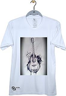 KIPA Guitar Round Neck T-Shirt - 13 - White