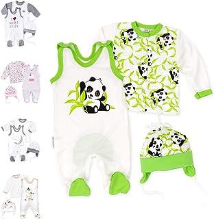 Baby Sweets 3er Baby-Set mit Strampler, Shirt & Mütze als Baby-Erstausstattung für Mädchen und Jungen/Bio-Baumwolle Baby-Kleidung Strampler Set für Neugeborene & Kleinkinder in verschiedenen Größen