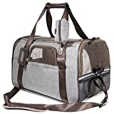 SCM Airline Approved Soft-Sided Folding Pet Carrier, Hand Carry Portable Bag Home for little Dogs, Cats and...