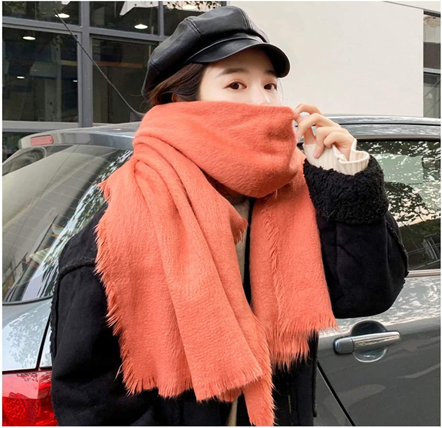 Scarf Warm Soft Hair Warm Scarf Sexy Winter Warm Scarf Fashion Long Scarf Shawl (color   C)