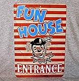 Ol322ay Letrero de Metal Entrada de la casa, en el Carnaval de la Feria de Circo, en el Centro, Divertido Parque de Atracciones de Payasos, de Aluminio, para la Pared de la Cueva del Hombre