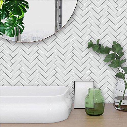 MI-RAN 10pcs Adesivi per piastrelle | Adesivo Piastrelle – Decori retrò – per la stanza da bagno Cucina Decorazione – TS040, 20cm*20cm