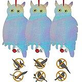 Control de Aves Anti Aves Búho,Búho Espantapajaros Balcon,Búho Espantapajaros,Espantapajaros para Jardin,Control de Repelente de Aves,Repelente de Pajaros