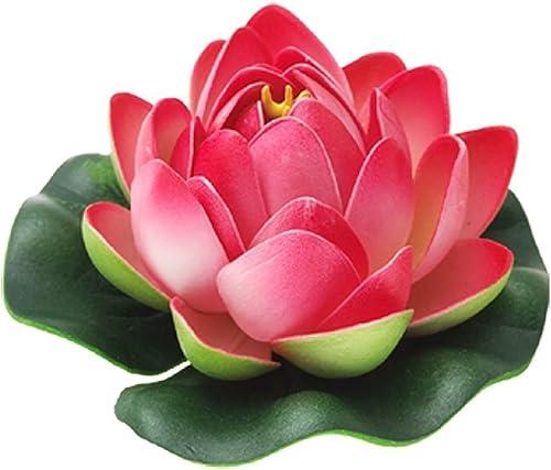 2021 Mallofusa Aquarium Garden Pond Floating popular Lotus Decoration (Dark sale Pink) sale