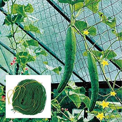 Premium Ranknetz 7 Sizes mit großer Maschenweite Kletterpflanzen für Garten Besonders Ertragreiche Ernte von Gurken, Tomaten und Anderen Gemüsepflanzen Rankhilfen 1.8 * 2.7m