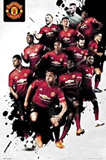 GB Eye Limited Manchester United Players 18/19 Football Soccer Poster 24x36 inch