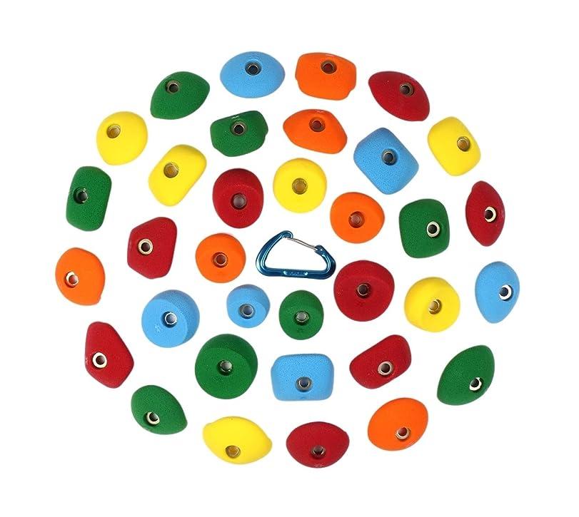 足音蜜触覚34個パック (小さな手用)   クライミングホールド   明るい色の詰め合わせ