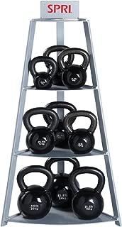 SPRI Steel Kettle Bell Storage Rack