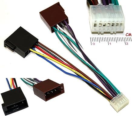 Adaptador Cable Enchufe ISO para autoradio Compatible con JVC KD-X141 X341BT X342BT Kenwood KMM-103AY 103GY 103RY 123Y BT203 C41216 AERZETIX