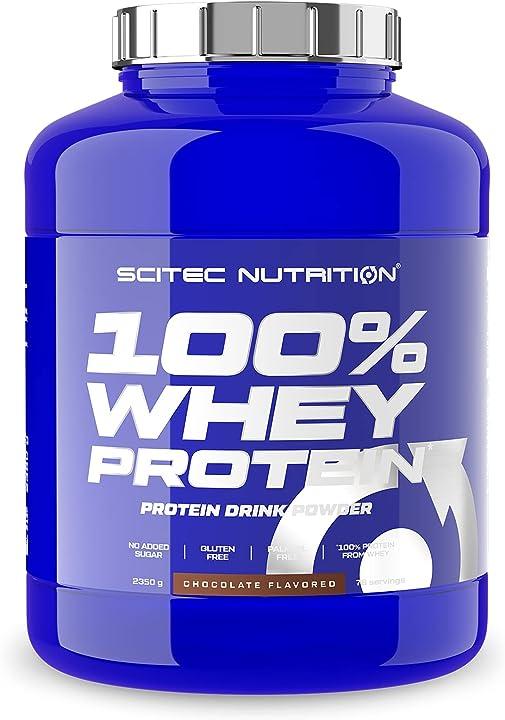 Whey protein 100% con aminoacidi extra scitec nutrition 2.35 kg cioccolato proteine scitec 0728633105618