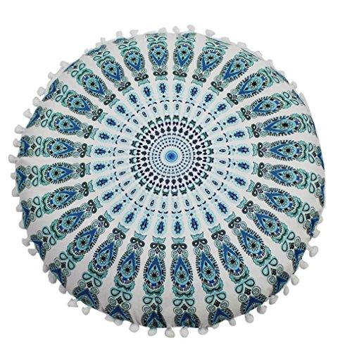 Funda Cojines, Xinan Cojines Redondos de Bohemian Cushion Indian Mandala Floor Pillows 43 * 43cm (G)