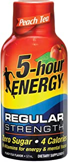 5 hour ENERGY Peach Tea Regular, Peach, 57 ml