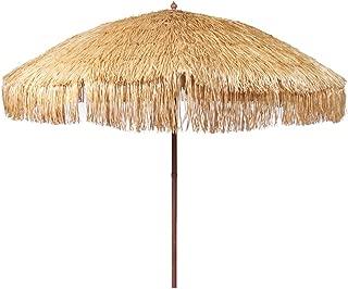 Bayside21 Hula Thatched Tiki Umbrella Natural Color 6' 8' & 9' Options..