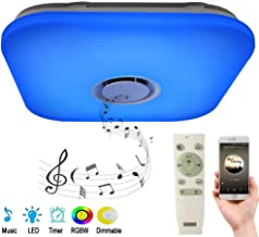 Smart APP Ceiling Light with Speaker and Remote,RGB Color Changing, Daylight to The Warm Light, Music Ceiling lamp for Kitchen Restaurant Children's Room