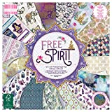 First Edition FEPAD212 FSC 12x12 Paper Spirit-48 Sheet Pad, 200gsm Heavyweight Cardstock, Acid & Lignin Free, Soy Inks-for Card Making, Scrapbooking, Home Decor & Papercraft, Multicolour, 12'x12'