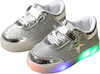LED Light Shoes Boy Girl Kid Child Mesh Star Luminous Breathable Running Shoes Casual Sneakers
