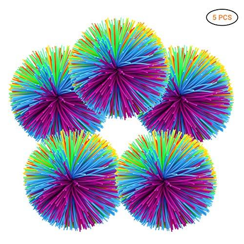 Surenhap 5pcs Sports Funball Ball Multicolor para eliminación de irritabilidad/descompresión/Terapia/Juguetes sensoriales, 7cm