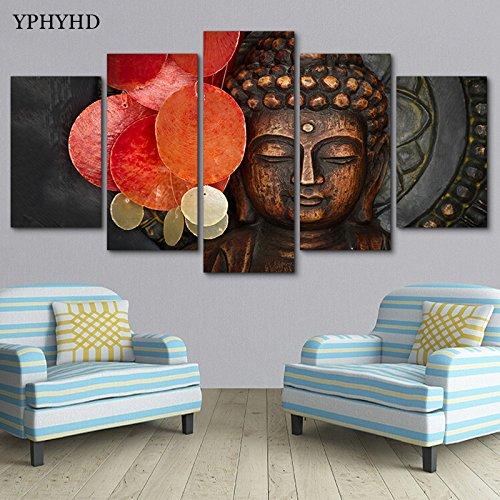SoulSpaze Edición Limitada Budha YphyHD 5 Piezas Lienzo Pintura Tamaño 3 con Marco