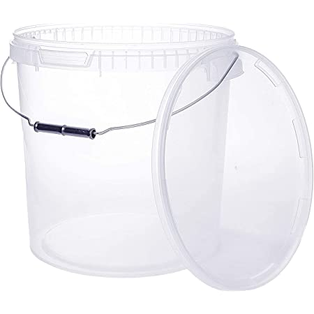 Seau avec couvercle | 1 x 20 Litres | Transparente Plastique Alimentaire Qualité de meilleure…