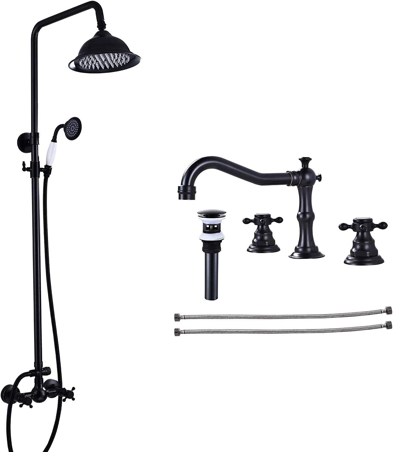 Online limited product Oil Manufacturer OFFicial shop Rubbed Bronze Shower Fixture Inch 8 Rainfall wit Head