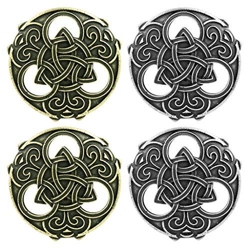 Milageto 4 Piezas Vikingo Capa Pennanular Nudo Nórdico Celta Broche Vintage Pin Escocés