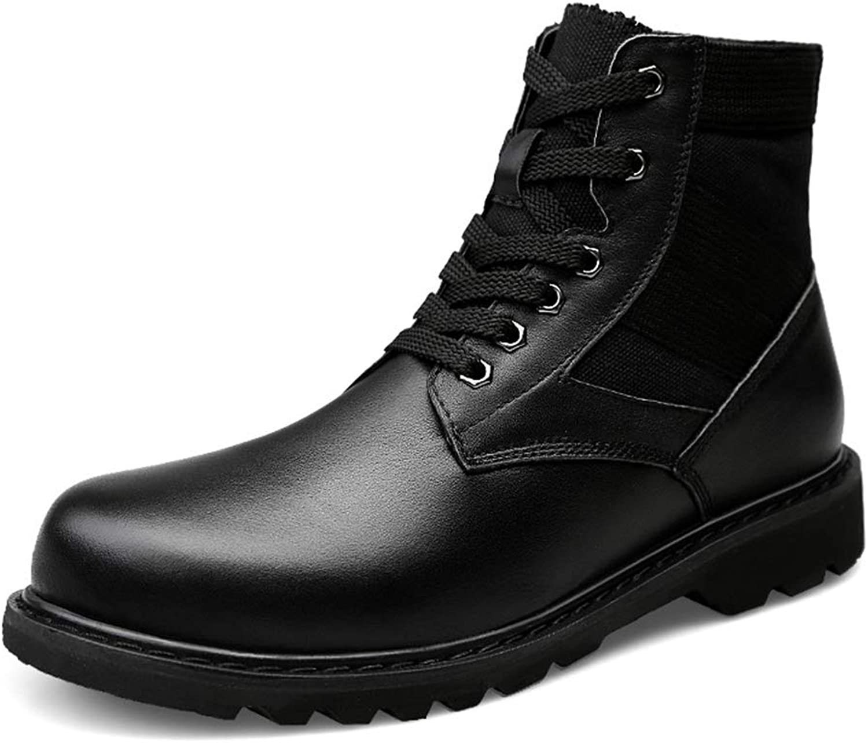 Men Boots Outdoor Winter Boots Men shoes Genuine Leather shoes