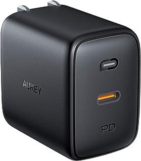 AUKEY AUKEY(オーキー) USB充電器 Omnia 60W USB-C ブラック PA-B2-BK [1ポート /USB Power Delivery対応 /GaN(窒化ガリウム) 採用]