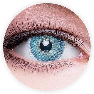 Dahab Lumirere Blue Contact Lenses, Unisex Dahab Cosmetic Contact Lenses, 9 Months Disposable- Eye Enlargement Collection,...