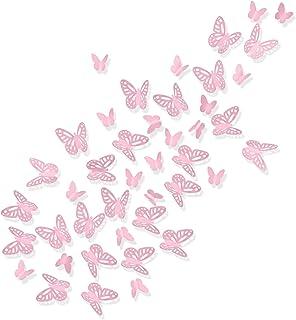 Luxbon 100Pcs 3D Vivid Cardboard Paper Hollow Butterfly Matt Effect Wall Stickers Art Crafts Decals Butterflies Home DIY I...