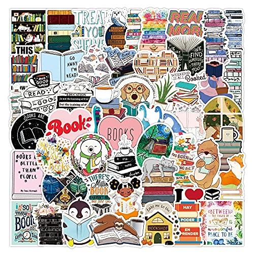 SHUYE I Love Reading Vinyl Decal Stickers Premium Waterproof Die Cut Matte Sticker Best Friend Gifts50Pcs