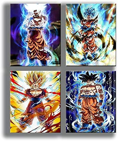Dragon Ball Goku Art Prints Wall Art Picture for Bedroom Home Decor Canvas Print Poster 8 x product image